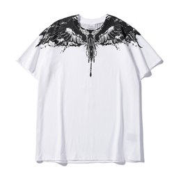trend tees 2019 - Marcelo Burlon Brand New Mens Designer T Shirts Trend Men Casual Short Sleeves Fashion Summer Casual Women Men Black Tee