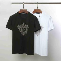 Discount popular brand t shirts - Factory direct sale Men Designer Men Brand Fashion Luxury Short Sleeve Mens Clothes Popular Pattern Breathable T Shirt m