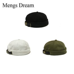 Wholesale 2019 New Arrival Men Women Skullcap Hat Cap Casual Docker Sailor Mechanic Brimless Solid Color Korean Style Hip Hop Wild