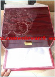 $enCountryForm.capitalKeyWord NZ - 2019 Super Quality Topselling Red Nautilus Watch Original Box Papers Card Wood Boxes Handbag For Aquanaut 5711 5712 5990 5980 Watch