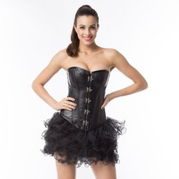 Body Tutu Australia - Lady Plus Size Bodysuit Corset tutu skirt Body Shaper Fancy dress outfit Halloween Costume High Quality S-6XL
