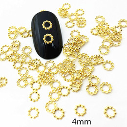japan studs UK - 100pcs bag 4mm Circle 2019 New 3D Nail Art Decoration Alloy Nail Accessory Japan Mini Stud Rivet DIY Charm Tools Supplies
