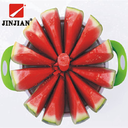 Cutter Fruit Watermelon Australia - Jinjian Kitchen Practical Tools Creative Watermelon Melon Cutter Knife 410 Stainless Steel Fruit Cutting Slicer Q190524