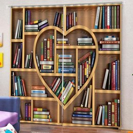 $enCountryForm.capitalKeyWord Australia - 2pcs Book Shelves Love Heart Light Blocking Window Curtain Balcony Patio Decor Set
