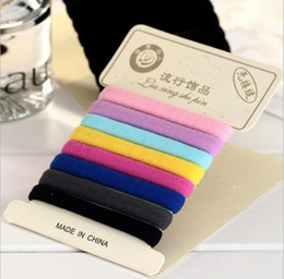 $enCountryForm.capitalKeyWord Australia - Colorful, high elastic, unattached head leather band paper card mounted without injury hair head rope rubber band
