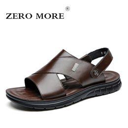 Mens Summer Shoes NZ - ZERO MORE Mens Shoes Split Leather Special Designer Sandals Summer Slipper Men Shoes Beach Rome Gladiator Soft Slip Sandals Men