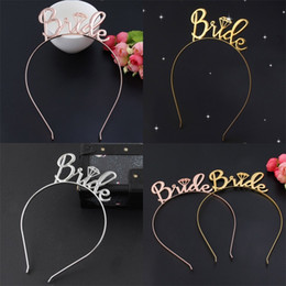 Wholesale Bride Letter Hair Hoop Wedding Crown Head Wear Fashion Hair Band New Arrives Hot Selling With Different Color yc J1