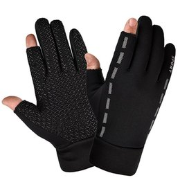 anti cutting gloves 2019 - 1 Pair Cut Elastic Thermal Cycling Gloves Anti-slip Protective Gloves For Riding TX32 cheap anti cutting gloves