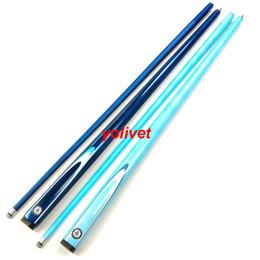 Ingrosso carbonio professionale 1/2 snodato biliardo Cues Stick 9,5 millimetri 2color blu snooker biliardo stecca spunto 57inch