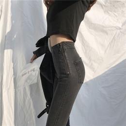 $enCountryForm.capitalKeyWord NZ - Vintage Side Zipper High Waist Pencil Jeans Female Casual Light Washed Slim Pants Stretch Slim Denim Jeans Women Trousers 2019