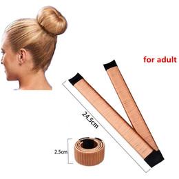 $enCountryForm.capitalKeyWord Australia - fashion 15cm 21cm 24.5cm Ball Bend Wig Flexible French Chignon Hair Bands Making Style Accessories For Women Kids