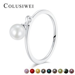 88c6a7a46dbe1e Shell ring Sterling online shopping - Modian Color Real Sterling Silver  Clear Shell Pearl Finger Ring