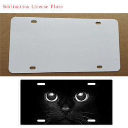Wholesale Metal Items Australia - New style sublimation blank metal car License plate item product hot heart transfer printing diy custom consumables 29.5*14.5CM