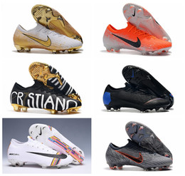 Discount new cr7 football boots - 2019 top quality mens soccer shoes Mercurial Vapors Fury VII CR7 Elite FG soccer cleats outdoor football boots Mercurial