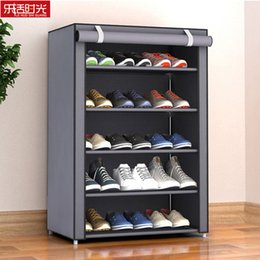 $enCountryForm.capitalKeyWord Australia - Nonwoven Fabric Simple Shoes Rack Close To The Door Detachable Shoes Organizer Closet Storage Living Room Dustproof Shoe Shelf SH190719