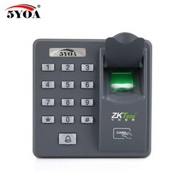 biometric door access control UK - 5YOA 5YBX6A Biometric Fingerprint Access Control Intercom Machine Digital Electric RFID Code System For Door Lock Keys Tags