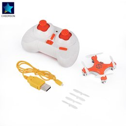Toy Radio Control Helicopter Australia - CX-10 Orange Mini RC helicopters Radio Control Aircraft Headless Mode Drone Quadcopter for Cheerson 2.4G 4CH 6Axis RC Model Toys