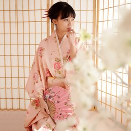 Kimonos for women online shopping - Women Japanese Traditional Costume Female Flower Japanese Kimono Dress for Stage Cosplay Ladies Yukata Costume Kimono Feminino