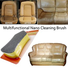nano clean sponge Australia - Car wash Nano Felt Cleaning detailing brush Washer Sponge Leather Seat Wiper Cleaner Vehicle Interior Cleaning Tool Polishing