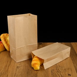 brown paper gifts Canada - 100 Paper Bags Brown Kraft Paper Bag Gift Bag Snack Baking Package Promotion