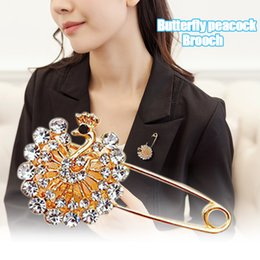Peacock rhinestone brooch online shopping - Hot Women Brooch Peacock Bow Shaped Brooch Heart Shaped Scarf Pin Rhinestone CUN