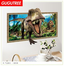 $enCountryForm.capitalKeyWord Australia - Decorate home 3D dinosaur cartoon art wall sticker decoration Decals mural painting Removable Decor Wallpaper G-963