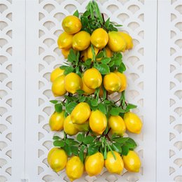 pet stores UK - Simulation Lemon Model Artificial Fruits Vegetables Photography Props Home Figurine Garden Wall Decoration Fruit Store Ornaments Pet Supplie