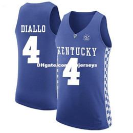 cf067f3d66b5  4 Hamidou Diallo 2017 Kentucky Wildcats Retro Top stitched basketball  jerseys Customize any number and name XS-5XL vest Jerseys NCAA