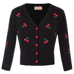 $enCountryForm.capitalKeyWord Australia - BP Women Coat Embroidery Knitted Slim Sweater V Neck Button Cardigan Jacket Plus Size Lady Tops Elegant New Fashion Female Coat