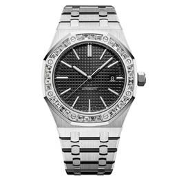 Christmas diamonds online shopping - luxury mens watches diamond automatic mechanical watch All stainless steel swimming watch Super luminous orologi da uomo di marca di lusso