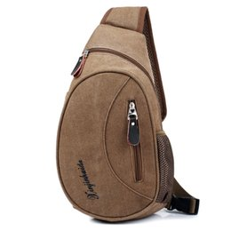 small canvas crossbody bag UK - Casual Chest Bag Men Canvas Small Crossbody Bag Male Quality Travel Pack Single Shoulder Bags Man Military Messenger Bag