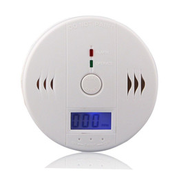 Alarms Sensors Security Australia - CO Carbon Monoxide Gas Sensor Monitor Alarm Poisining Detector Tester For Home Security Surveillance Hight Quality