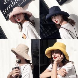 $enCountryForm.capitalKeyWord NZ - 2019 Women Cotton Sun Hats Beach Ponytail Foldable Wide Brim Hats Femme Chapeau Female Girl Caps Flat Top Hat For Women UPF50 Gorros Sun Cap