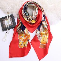 $enCountryForm.capitalKeyWord Australia - Luxury Designer Large Silk Scarves 135*135cm High Quality Square Scarfs And Shawls Wraps Hijabs Pashmina Beach Coverup Autumn Muffler Neck W