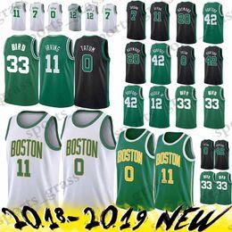 118e7362a 2019 new Kyrie 11 Irving jerseys Jayson 0 Tatum Larry 33 Bird Jaylen 7  Brown Jersey Earned Edition High-quality