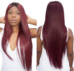 Dark Roots Hair Australia - Ombre Human Hair Lace Front Wigs T1b 99j Two Tone Full Lace Wigs With Baby Hair Peruvian Virgin Hair Straight Dark Root Burgundy