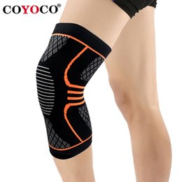 elastic knee sleeve support Australia - 1 Pcs Sport Knee Braces Support Sleeve Kneepad COYOCO Brand Fitness Running Cycling Protect Elastic Gym Knee Pad Warm Orange