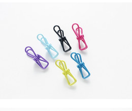$enCountryForm.capitalKeyWord Australia - Colorful Creative office pins Stainless Steel Clothes Pins Utility Laundry Clothes Pegs Hanger Clips for Kitchen Home Office bags clip