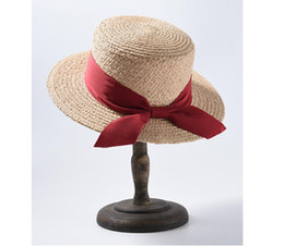 $enCountryForm.capitalKeyWord Australia - New Raffi straw hat for 2019 Spring and Summer Female Korean version flat-topped short eaves with sunscreen sunshade hat for students straw