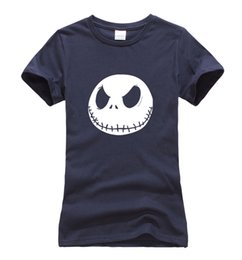 Smile T Shirt Women Australia - Fashion-Women's Tee 2017 Summer Jack Skellington Evil Smile Print T Shirt Women Cotton Slim Fit Tops Tshirt Funny Brand Hip Hop Streetwear