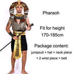 king costumes NZ - Halloween Costumes Ancient Egypt Egyptian Pharaoh King Empress Cleopatra Queen Costume Cosplay Clothing for Men Women Role-playing Suit