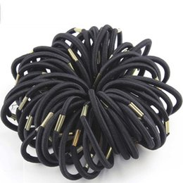 Women hair accessories extensions online shopping - 100 Elastic Hair Rubber Band Black Hair Rope Ponytail Holder Girl Hair Accessories Tie Gum New High Quality Women Colorful