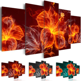 life size pictures Australia - Abstract Flame Flower Canvas Print Modern Fashion Wall Art the Flower for Home Decoration Choose Color(red,Black,Green)Size:4 No Frame
