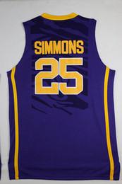 fa1d0a5e5b5f lsu basketball jersey 2019 - Cheap wholesale Ben Simmons Jersey 25 LSU  Tigers Stitched Basketball Jersey