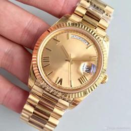 $enCountryForm.capitalKeyWord Australia - HOT Hot Men Watch 18K Gold Watch 40MM Sapphire Mirror Series High Quality Automatic Movement Original Folding Buckle Stainless St