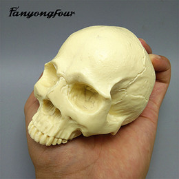 Skull cake online shopping - Skull Silicone Mould Fondant Cake Mould Resin Gypsum Chocolate Candle Candy Mould T191018