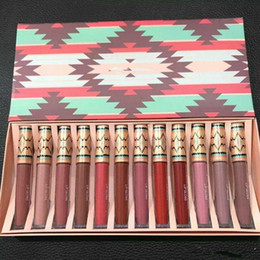 China Famous Brand ! Matte Vibe Tribe Lip Gloss 12PCS Set Liquid Lipstick Lip Moisturizer Long-lasting Natural 12 Colors DHL free shipping supplier wholesale lipstick vibe suppliers