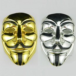 $enCountryForm.capitalKeyWord NZ - PVC Halloween V Word Electroplating Unisex Mask Cosplay Costume Movie Stars Party Stage Mask