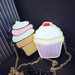 $enCountryForm.capitalKeyWord Australia - Wholesale- NEW Cute Fashion Lady Kids Girls Ice Crean Cupcake Cartoon Messenger Bags Shoulder Bag Hobo Purse Handbag