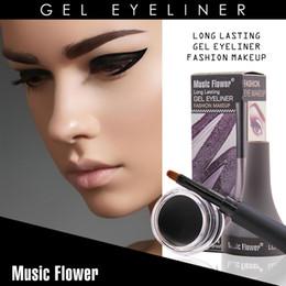 Gel Eyes Liner Australia - Eyeliner Gel Long Time Wearing Waterproof Eye Liner Makeup Liquid Kit Equipped with 1 Professional Brush Multicolor Optional